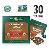 Kardamom-Chai-Tee - 30 Pyramiden-Teebeutel - 100% NATURAL CRUSHED KARDAMOM gemischt mit Garden Fresh BLACK TEA, Indiens Original-Kardamom-Teemischung, Chai Latte (2 Boxen, 15 Teebeutel)