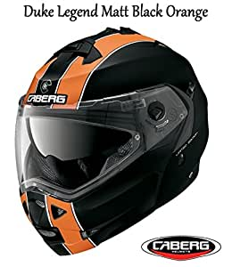 MOTORBIKE CABERG DUKE LEGEND FLIP UP HELMET New 2016 Motorcycle Flip Front Sh...Legend Matt Black/Orange : M