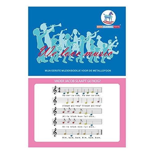 New Classic Toys NCT 0190 - Musikinstrumentzubehör - Notenbuch für Metallophon 10 Lieder auf 16 Seiten