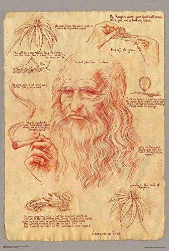 Close Up Poster Leonardo Fumando Marijuana (61cm x 91,5cm)