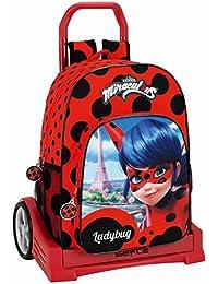 Safta Ladybug Mochila Escolar, 43 cm, Rojo