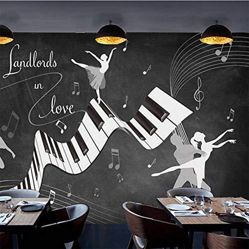 Ballett Kostüm Coole - ACYKM 3D Wandbild Benutzerdefinierte Fototapete Retro Vintage Ballett Kostüm Wandbild Wohnzimmer Sofa TV Hintergrund Wand wasserdicht Coole Tapeten 250 * 160cm