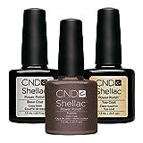 CND Original CND Shellac Rubble Farblack plus CND Shellac Base plus Top Coat - 7.3 ml, 1er Pack (1 x 22 ml)