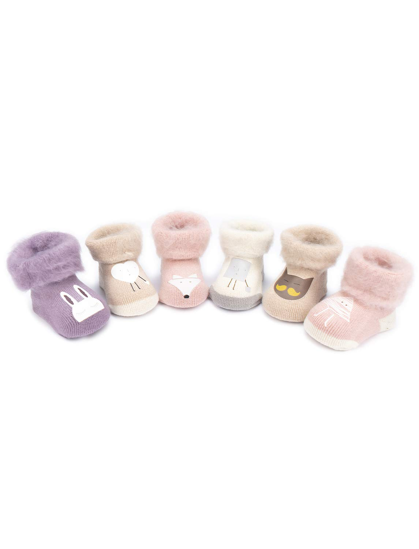 Adorel Calcetines Termicos de Felpa para Bebé Niña Lote de 6 2
