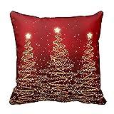 KanLin1986 Federe di Natale Buon Natale cuscino casi cotone biancheria divano imbottitura copertina Home Decor (B)