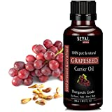 Seyal Grapeseed Oil 100% Pure & Natural, Therapeutic Grade Organic Cold Pressed, For Face, Nails, Hair & Skin...