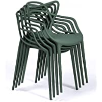 Kartell Masters - Kit de 4 chaises, vert