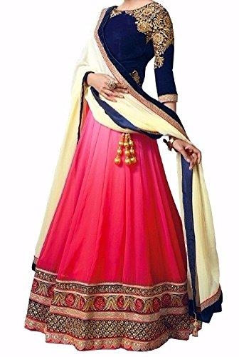 lehenga Choli (Sai Fab Women\'s Velvet Pink Free Size Lehenga Chaniya Choli)