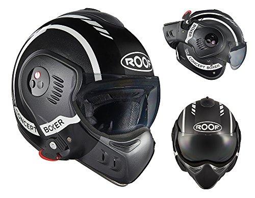 Roof Casco Boxer V8, LP20 Negro-Blanco, Talla 2XL
