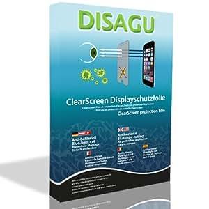 4 x protezione dello schermo DISAGU ClearScreen per HP Photosmart Mz67 anti-antibatterico, protettore filtro BlueLightCut