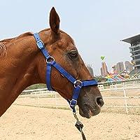 Breastplate Myyxt Equestrian Horses Leather Más Gruesa Hecha de Bridas y riendas de Nylon, Blue