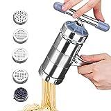 High Quality Küche Multi-Funktions Zubehör Edelstahl Pasta Presse Nudelmaschine mit 5 Noodle Mould …