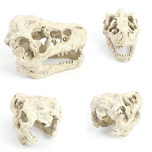 istische Dinosaurier Tyrannosaurus Maßstab Skull Ornament Unterwasser Fische Höhle Tank Landschaft Dekoration (Halloween Fish Tank Dekorationen)