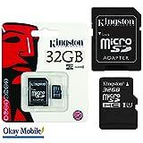 Original Kingston MicroSD scheda di memoria 32GB per ALCATEL ONE TOUCH POP 3–32GB
