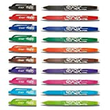Pilot - Stylos roller FriXion effaçable Pointe 0,7 mm BL-FR7, 10 stylos, couleurs assorties