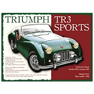 Metal Sign - Triumph TR3 Plaque métal - Metal Sign - XXX15500 - L (30 x 40cm)