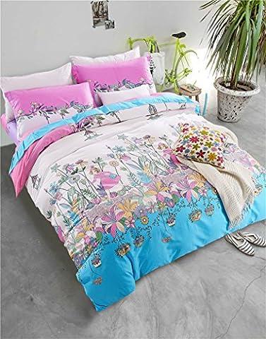 Bettbezug Sets Vier Sets der Baumwolle Twill Quilt Bettwäsche, E, Eastern King