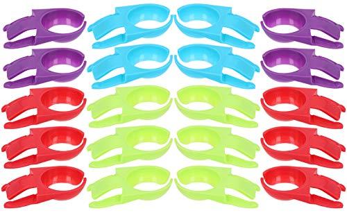 COM-FOUR 20x Weinglas-Clips für Teller, in tollen Farben, z.B. für Weingläser, Sektgläser oder...