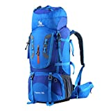HWJIANFENG Trekkingrucksack Wanderrucksack - Große Kapazität 80L - Ultraleicht, strapzierfähig - Perfekt für Camping/Wandern/Bergsteigen/Reisen
