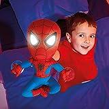 2 in 1 XL Spider-Man Nachtlicht + Plüschfigur Spiderman Kinderlampe Puppe Spidermann Nachttischlampe