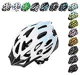 Meteor della ruota Casco da ciclista per ciclismo MTB Road Race Downhill escursioni e altri sport unisex casco da bicicletta mv29(bianco/blu, L (58–61)