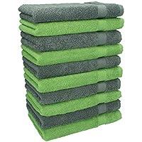 Betz 10 Seiftücher Seiflappen Seiftuch Waschlappen PREMIUM 30x30 grün Towels orange