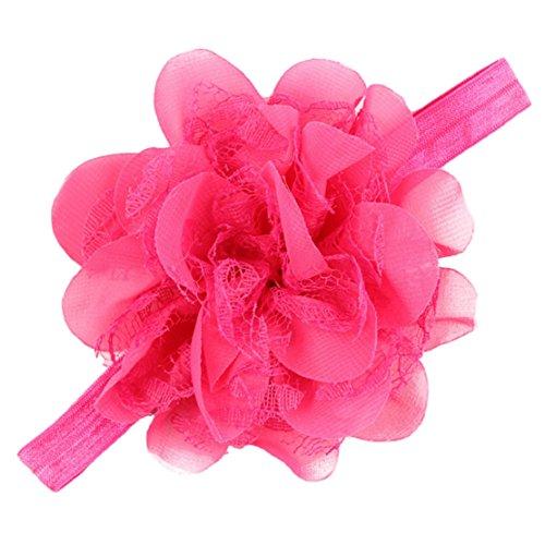 Tonsee Mädchen einstellbare attraktive Blume Tuch niedlichen Baby Partei Kleinkinder Haarband Stirnband (Rose - Mädchen-partei