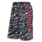 OPALLEY Herren Sporthose Trainingsshorts Sommer Jogginghose Sport Kurze Hosen mit Reißverschluss Taschen