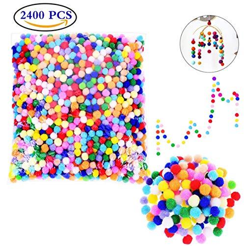 s,9MM Bunt Pom Pom bälle Gemischte Farben Pompons für Handwerkmachen und Hobbybedarf,Zum Basteln,DIY Hobby Supplies und Plüschtiere Dekorationen Weihnachten Bastelbedarf ()