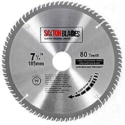 Tct18580t Saxton TCT Bois Lame de scie circulaire 185mm x 30mm x Alésage X 80T pour Bosch Makita Dewalt pour scie 190mm