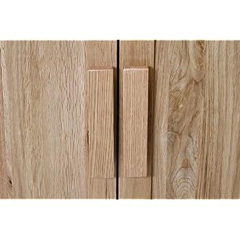 Wooden Door Handles Solid Oak Bar Handles For Kitchen Cupboard