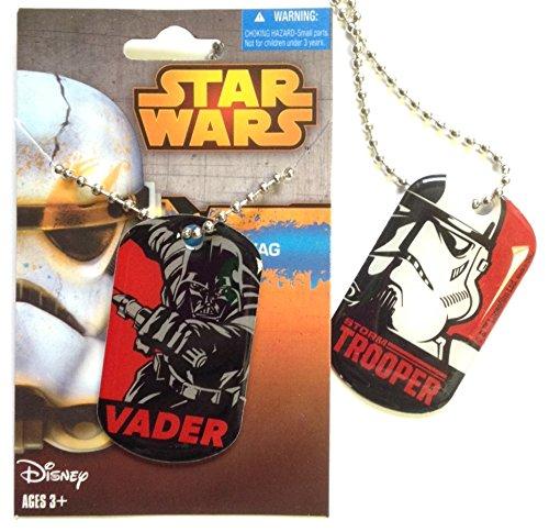 Star Wars doppelseitig Darth Vader Storm & Storm Trooper Dog Tag-Offizielles Disney Lizenzprodukt -