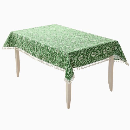 Table de couture Accueil Longzhi table multifonctionnelle Tissu Tissu Tissu Tissu épais vert bordée des nappes en 140*200 ( 3 cm)