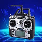 GOTOTOP Flysky FS-T6 Funksteuerempfänger und -Sender, Hochpräzisions-Multirotor-Funksteuermodus, Quadcopter, Hubschrauber, Flugzeug, Segelflugzeu