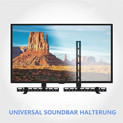 Malayas® TV Soundbar Halterung Ständer lautsprecher Boxen Soundbar Halter höhen- und tiefenverstellbar Fernseher Wandhaltung universal passend für Samsung, Sharp,Sony etc. (Sound Bar Für Tv Samsung)