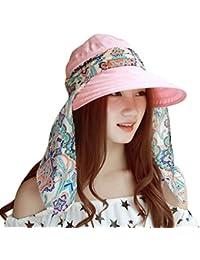 Visera para Mujeres Verano Gorra de Playa Al Aire Libre Sombreros de Sol BBestseller Pescador Gran Sombrero Redondo de ala Ancha Sol