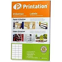 Kleine etiquetas 2100 pieza 63 x 39,5 mm etiquetas Color blanco – 100 A4 hojas 3 x 7 63 x 39,5 C6 – Etiqueta para dirección L7160 Jac 6339