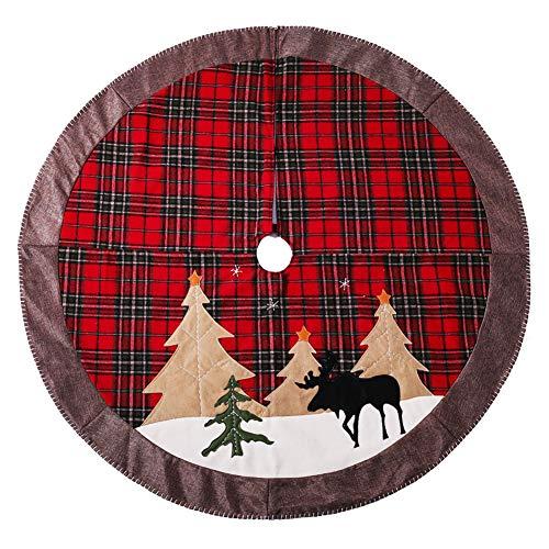 HELLOGIRL 106,7 cm große Bäume Röcke Ornamente Weihnachtsbaum Rock für Weihnachtsbaum Boden Dekoration Christmas Tree Skirt