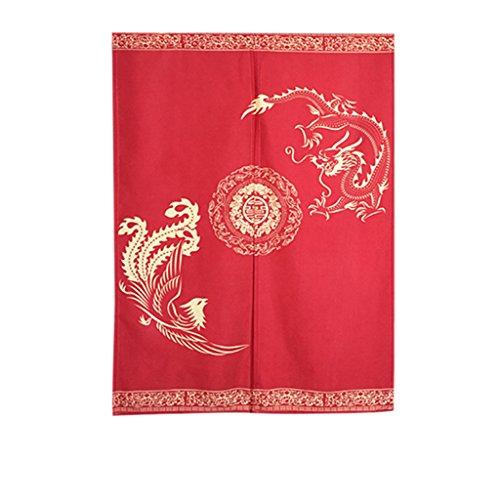 Tür Tür Vorhang Schattierung Schlafzimmer Badezimmer Tapisserie Raumteiler Wandbehänge - reduziert Wärmeverlust, verhindert Zugluft, spart Energie (85 * 125cm) ( Farbe : Rot ) (Red Door-perlen)