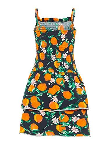 NAME IT Mädchen Sommer-Kleid Trägerkleid gesmokt NKFfie, Größe:152, Farbe:Dark Sapphire -