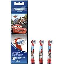 Oral-B Stages Power - Cabezal de recambio de los personajes Disney para cepillo de dientes eléctrico, 3 unidades, colores aleatorios