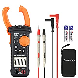 AIDBUCKS AD200 Multimeter Professional Aperometer, Non-Contact Tester Electrical Clamp Digital Portable Handheld Voltage Tester Meter AC DC Voltage AC Current Voltmeter Ammeter Resistance Diode LCD