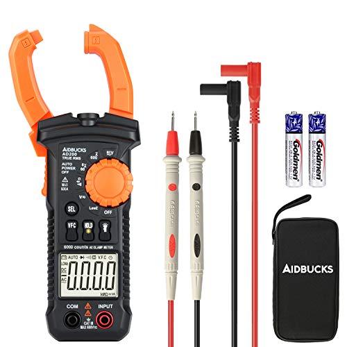 AIDBUCKS Multimetro Pinza AD200 Professionale Amperometrica Senza Contatto Tester Pinza Elettrico Clamp Digitale Portatile Tensione Handheld Contatori Meter