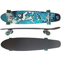 MAXOfit XXL Longboard RSX No.7, 112 cm, 9 stratti di acero canadese, Drop Down, Azione fino a esaurimento della merce - Azione Longboard Skateboard
