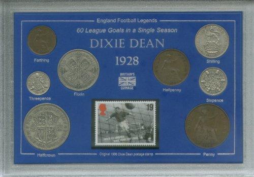 dixie-dean-of-everton-football-club-legend-england-vintage-league-champions-coin-stamp-present-displ