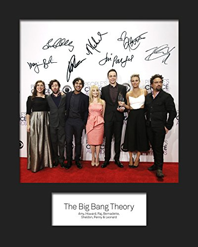 The Big Bang Theory # 2, signiert, 10x 8drucken (Dünne 8x10 Rahmen)
