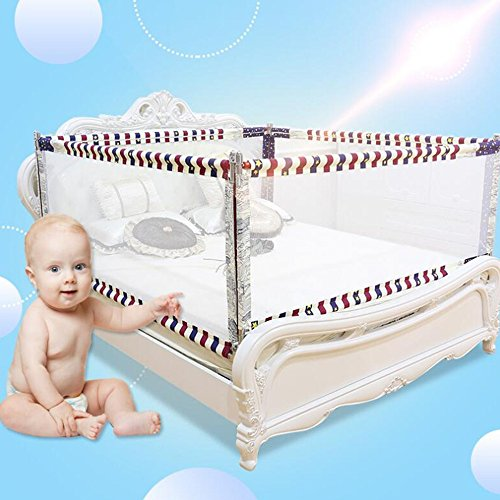 Zr- Bett Schiene \ Kinderleitplanke \ Familie Bed Fence \ Baby's bruchsicher Anti-Fall Baffle \ Bett Geländer \ Cribbed Klammer 1.8-2.0m -Sicherheit (Größe : 4 Sides/1.5mX2.0m)