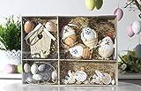 26teiliges Osterset Ostereier Osterhänger Hase Huhn Osterdeko Naturtöne Ostern