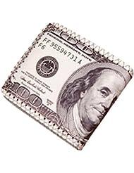 Landons Carteras 100$ Moneda Sostenedor Carteras Hombre de Cuero de Dólares