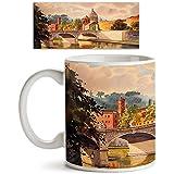 AZ Basilica Sant Pietro & Tiber River In Vatican Italy Ceramic Coffee Tea Mug White Colour Microwave Safe 325ml Round Mug; Single Piece.